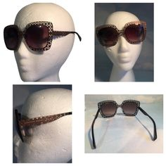 BRAND NEW ALEXANDER MCQUEEN BROWN SUNGLASSES BRAND NEW ALEXANDER MCCQEEN BRONZE METAL SUNGLASSES. VERY LIGHT.COMES WITH CASE. Alexander McQueen Accessories Sunglasses