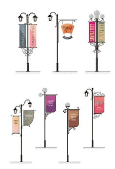 Street light banner design