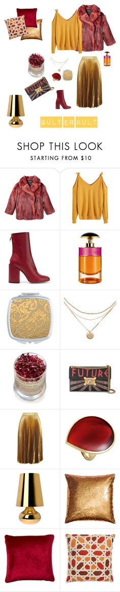 """""""Gult er kult"""" by gordana-legner on Polyvore featuring Petar Petrov, Prada, Lola's Apothecary, Gucci, Christopher Kane, Ippolita, Kartell and Loloi Rugs"""