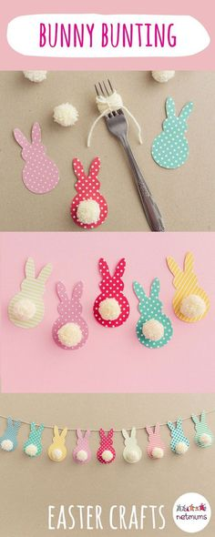 From fluffy pom pom chicks to decorated Easter eggs, these 15 easy Easter crafts. - From fluffy pom pom chicks to decorated Easter eggs, these 15 easy Easter crafts. Easter Art, Bunny Crafts, Easter Crafts For Kids, Crafts For Teens, Flower Crafts, Crafts To Sell, Easter Eggs, Sell Diy, Craft Ideas For Kids To Make