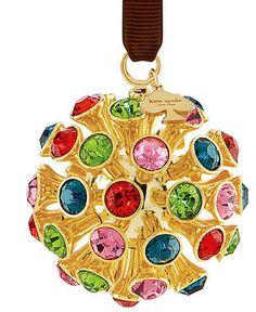£41 kate spade new york Christmas Ornament, Crystal Orbit - All Christmas Ornaments - Holiday Lane - Macy's