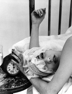 William Klein, Barbara + Alarm Clock, Paris (Vogue), 1956