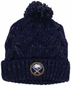 100% authentic 2fa63 0745a NHL Buffalo Sabres Women s Cuffed Knit Hat With Pom, One Size ,Navy Blue  adidas.  11.50