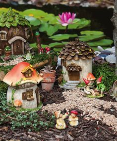 This Fairy House Set by Evergreen is perfect! #zulilyfinds