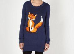 by Henry Holland Designer navy fox knit tunic dress- at Debenhams Mobile Henry Holland, Debenhams, Graphic Sweatshirt, Tunic, Knitting, Sweatshirts, My Style, Sweaters, How To Wear