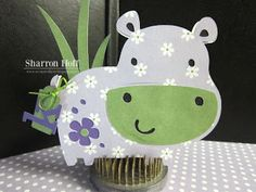 Obsessed with Scrapbooking: Sweet Baby Hippo Card