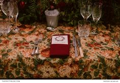 Vintage fabric, adorned with detailed floral patterns, decked the tables at a wedding inspired by the voguish Italian city of Milan. Wedding Stationery Inspiration, Wedding Inspiration, Wedding Ideas, Floral Patterns, Wedding Reception, Milan, Tables, Weddings, Table Decorations