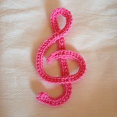 Crochet the Treble Clef Musical Note