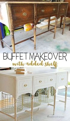 DIY Makeover Ideas That Repurposed Furniture # refurbished Furniture DIY Makeover Ideas That Repurposed Furniture Refurbished Furniture, Repurposed Furniture, Shabby Chic Furniture, Rustic Furniture, Furniture Makeover, Cool Furniture, Painted Furniture, Furniture Ideas, Diy Furniture Table