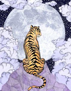 Tiger Moon | Colour Version Sticker