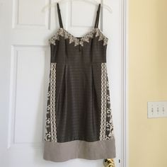 Moulinette Soeurs Anthropologie Dress - worn once! So beautiful and unique! Various textures and lace. Great condition. Worn once and dry cleaned. Adjustable straps. Anthropologie Dresses