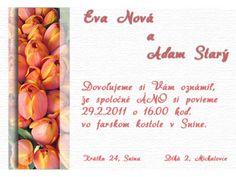 Svadobné oznámenie - SO012