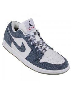 Nike Women's Air Jordan 1 Retro Low CA white denim