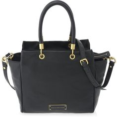 Marc by Marc Jacobs Too Hot To Handle Bentley Tote (32.490 RUB) ❤ liked on Polyvore featuring bags, handbags, tote bags, black, marc by marc jacobs tote, black tote, leather purse, leather tote bags and leather tote