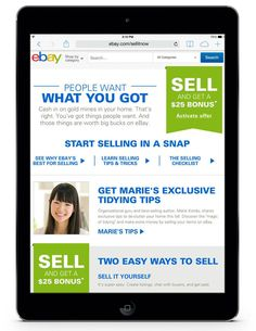How to declutter and organize your home while making extra money on ebay.