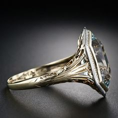 Art Deco Aquamarine Ring -