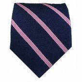 Trad Stripe - Navy/Pink || Ties - Wear Your Good Tie. Every Day - Trad Stripe - Navy/Pink Ties