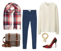 """""""Fall Outfit Idea #11"""" by thebudgetbabe on Polyvore featuring Accessorize, MANGO, Uniqlo, Sole Society, Liliana and GUESS"""