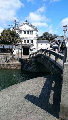 倉敷市美観地区 倉敷考古館 Okayama, Japanese Art, Culture, Mansions, House Styles, Places, Japan Art, Villas, Palaces