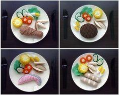 comida de feltro - refeições