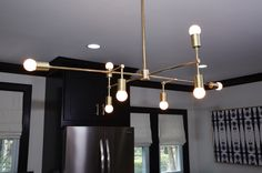 Kitchen | Custom Light Fixture | PARK STUDIO LA