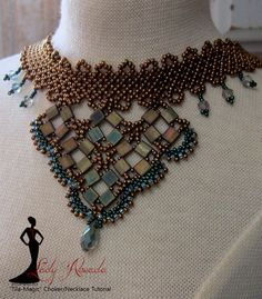Beading Tutorial Tila Magic Choker/Necklace PDF by LadyAbeada