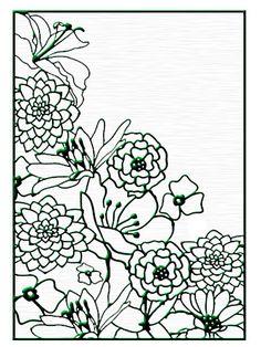 Nellie Snellen Embossing Folder - Flower Corner 1,$7.49