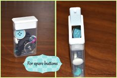 5 uses for Tic Tac containers - for buttons