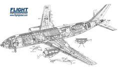 Airbus A300-600 cutaway drawing