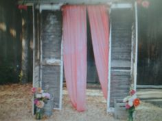 Folding doors/shutter backdrop