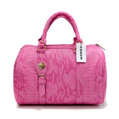Look Here! Coach Embossed Medium Pink Luggage Bags DEI Outlet Online Summer Outfits,fashion designer bags for ladies,Coach handbags are the best! Coach Luggage, Pink Luggage, Luggage Bags, Coach Purses, Coach Handbags, I Love Fashion, Passion For Fashion, Coach Bags Outlet, Love Couture