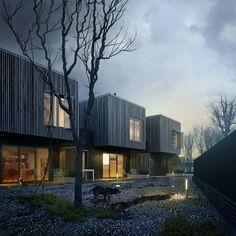 Modern Townhouse, Townhouse Designs, Terraced House, Residential Architecture, Modern Architecture, Technical Architecture, Ancient Architecture, Sustainable Architecture, Habitat Groupé
