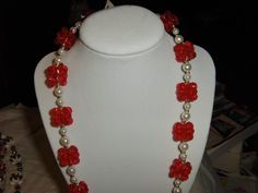 """""""Red Pearl Lei"""" --- $3.00 + $3.00 shipping in the USA"""