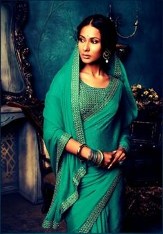 Love this colour! Embroidered Sarees The magic of Elegant Embroidery Designs. Photo by Laxmipati Sarees India Fashion, Ethnic Fashion, Asian Fashion, Fashion Women, Indian Attire, Indian Wear, Indian Outfits, Indian Look, Indian Ethnic