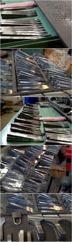 Unfinished (unpolished) pricking irons in the process of manufacturing at the Vergez Blanchard factory. #leatherworking_tools #leathercraft #leather_tools #handmade_leather