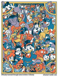 """There's so much to do, gettin' ready just for you.""  .Disney Afternoon silkscreen will be debuting at the D23 Expo Dreamstore in Anaheim, August 9-11."