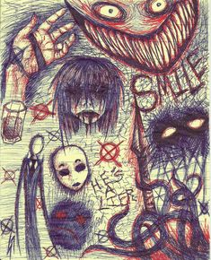 Creepy Pasta Doodles4 by KysonKyoko.deviantart.com on @deviantART