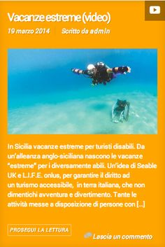 Vacazne estreme - Riabilita il domani #disabili #vacanzedisabili #disabilità http://seableholidays.tumblr.com/post/80069142218/vacanze-estreme