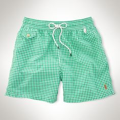 "Traveler Gingham 5"" Swim Short - Swimwear Men - Ralph Lauren UK"