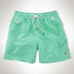 """Traveler Gingham 5"""" Swim Short - Swimwear Men - Ralph Lauren UK"""