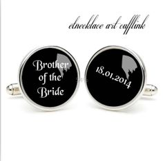 Brother of the bride  classic cufflinks wedding gift by etnecklace, $16.99