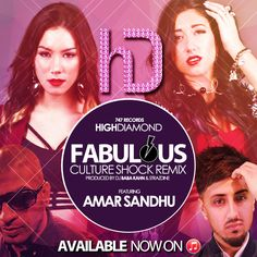 "he talented sister duo HighDiamond is set to make its mark on the international pop scene in a big way. The ladies of HighDiamond, Catina and Angela, have collaborated with deejay, producer, and radio host Baba Kahn for one of his signature East Meets West Culture Shock Remixes on their debut single ""Fabulous."""