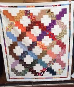 Grandma's Victory variation with the same color used in the small squares as the large