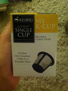 Reusable coffee filter for my Keurig so we don't have to buy the pods!