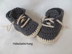 HÄKELANLEITUNG, Babyschuhe in 4 Größen von zwergerlstrick auf DaWanda.com
