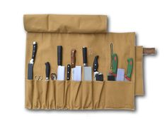 BROWN CANVAS KNIFE ROLL – Butcher and Baker