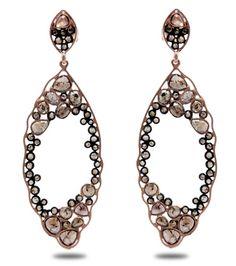 khushboo lakhi's sliced diamond earrings . . . ooh la la.
