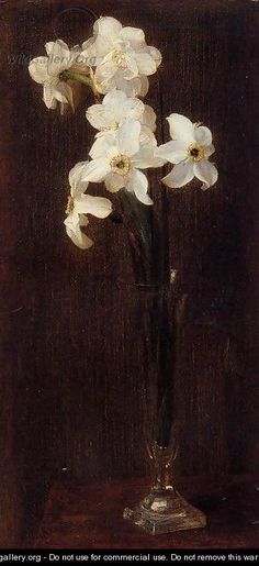 Flowers 1871 - Ignace Henri Jean Fantin-Latour