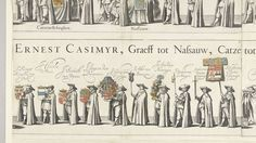Deel van de begrafenisstoet van Ernst Casimir, graaf van Nassau-Dietz te Leeuwarden (plaat 6), 1633, J. Hermans, Jelle Reyners, Claude Fonteyne, 1634
