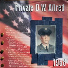 Private D.W. Allred - Scrapbook.com Idea for army years timeline